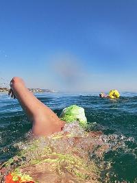 Bouée de sécurité pour la nage en eau libre