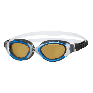 Polarized open water goggles
