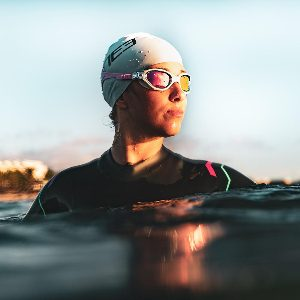 Womens open water swimming goggles
